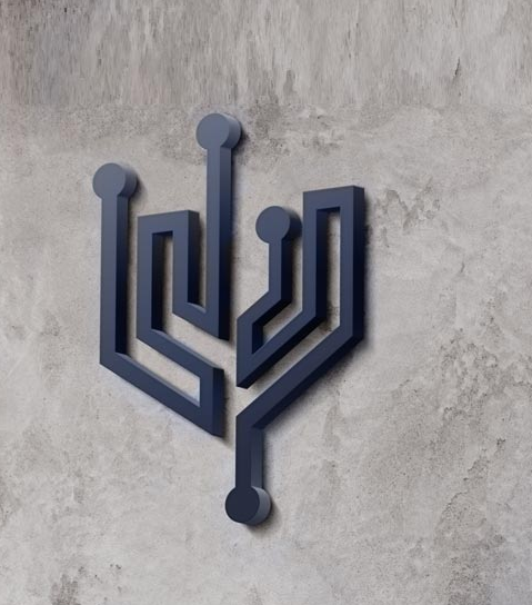 Trident Technology Services Logo Mounted On A Wall